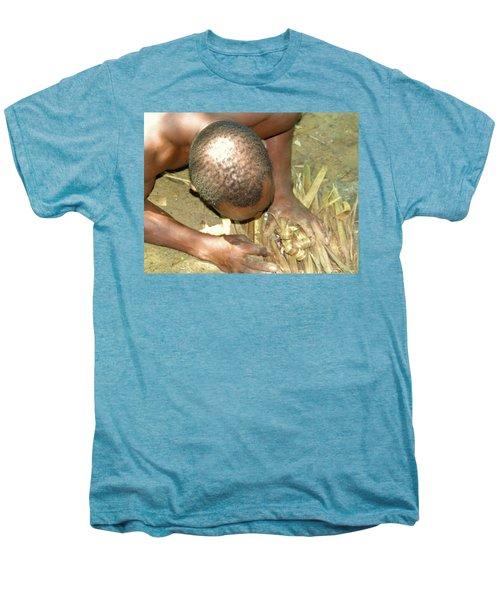 Lamu Island - Man Breathe Life Into A Fire 1 Men's Premium T-Shirt