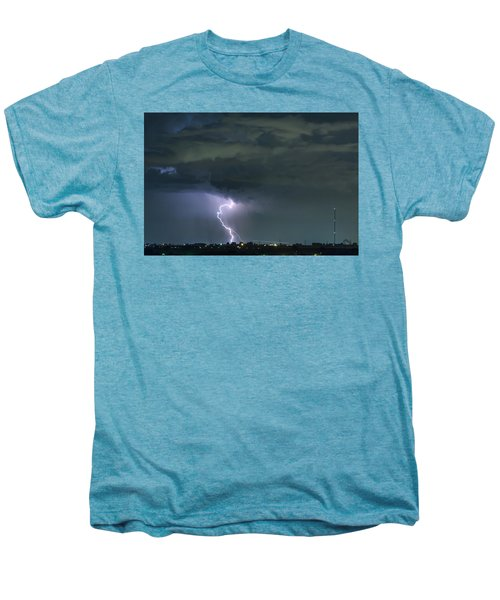 Men's Premium T-Shirt featuring the photograph Landing In A Storm by James BO Insogna