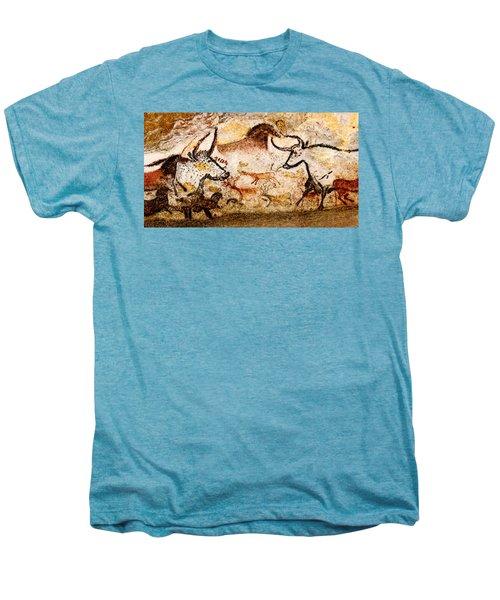 Lascaux Hall Of The Bulls - Deer And Aurochs Men's Premium T-Shirt