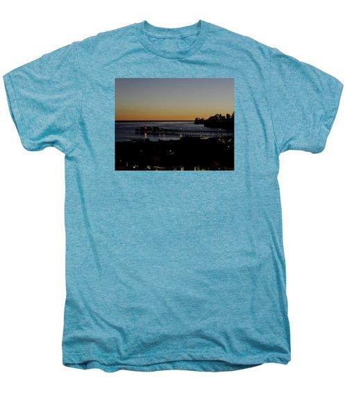 Men's Premium T-Shirt featuring the photograph Last 2015 Sunset by Lora Lee Chapman