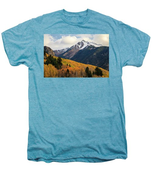 Men's Premium T-Shirt featuring the photograph Last Light Of Autumn by David Chandler