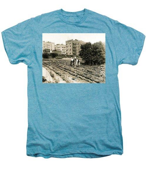 Last Working Farm In Manhattan Men's Premium T-Shirt by Cole Thompson