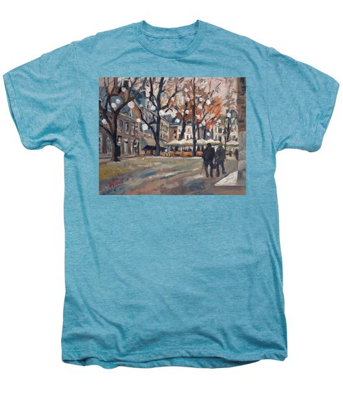 Late November At The Our Lady Square Maastricht Men's Premium T-Shirt by Nop Briex
