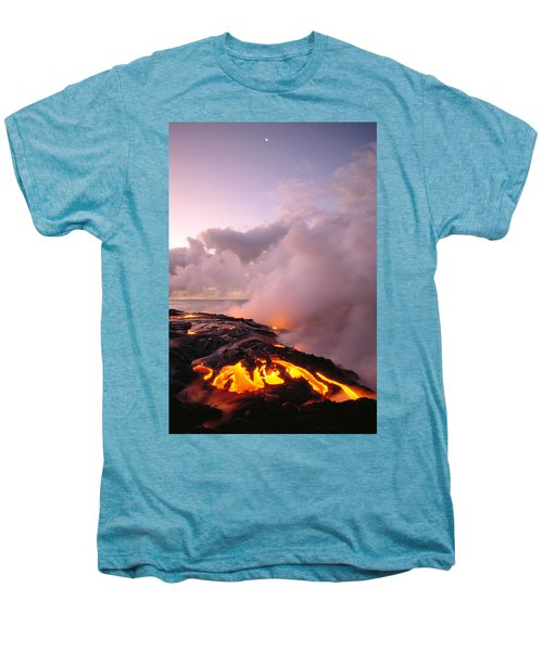 Lava Flows At Sunrise Men's Premium T-Shirt by Peter French - Printscapes