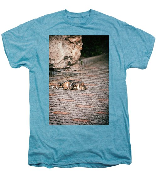 Men's Premium T-Shirt featuring the photograph Lazy Cat    by Silvia Ganora