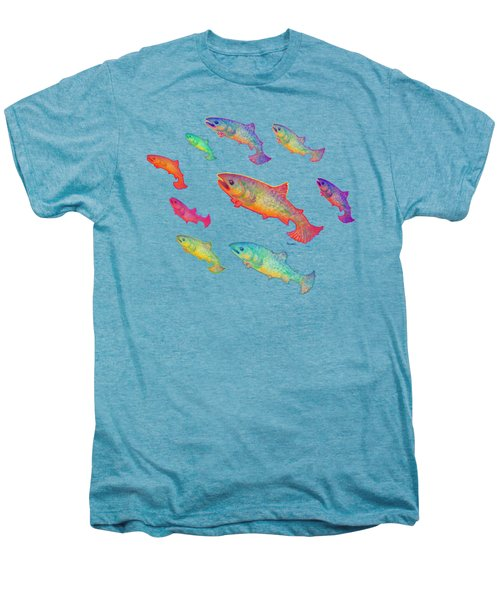 Leaping Salmon Design Men's Premium T-Shirt