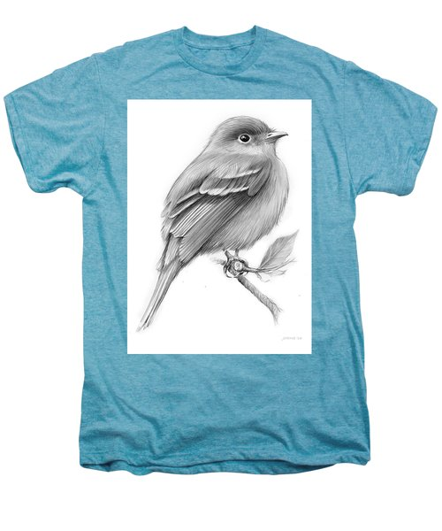 Least Flycatcher Men's Premium T-Shirt by Greg Joens