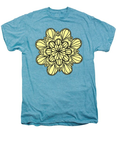 Lemon Lily Mandala Men's Premium T-Shirt by Georgiana Romanovna