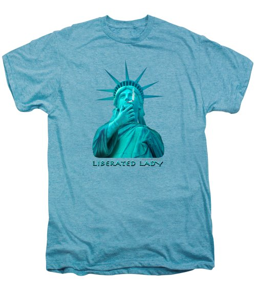 Liberated Lady 3 Men's Premium T-Shirt by Mike McGlothlen