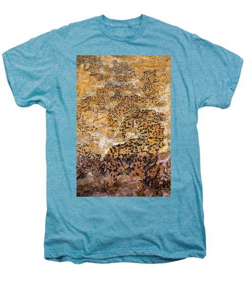 Men's Premium T-Shirt featuring the photograph Lichen Abstract, Bhimbetka, 2016 by Hitendra SINKAR