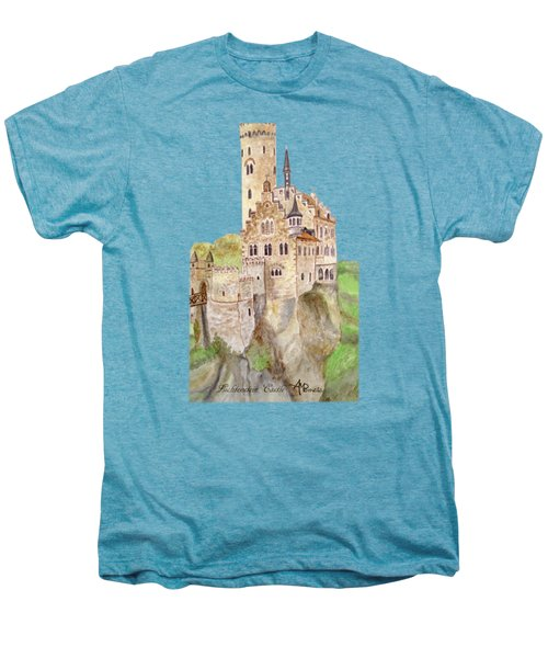 Lichtenstein Castle Men's Premium T-Shirt by Angeles M Pomata