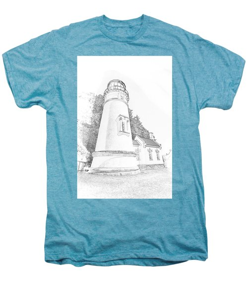 Lighthouse In Oregon Men's Premium T-Shirt