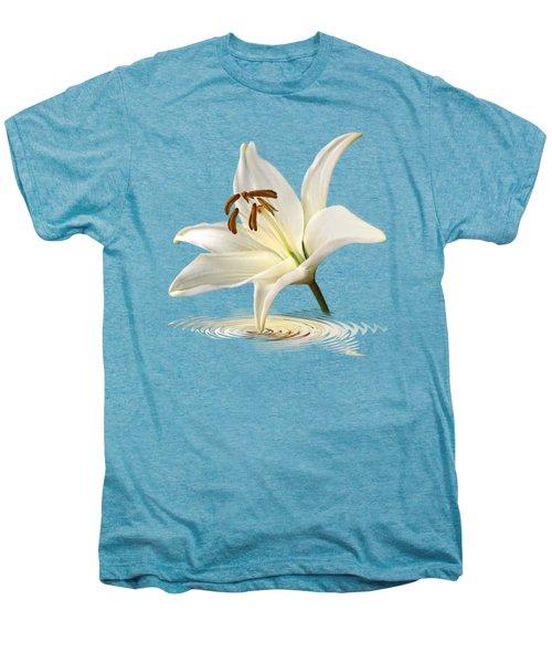 Lily Trumpet Men's Premium T-Shirt by Gill Billington