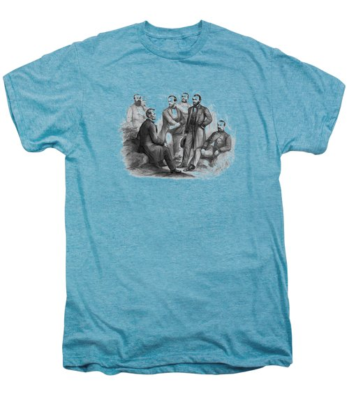 Lincoln And His Generals Black And White Men's Premium T-Shirt