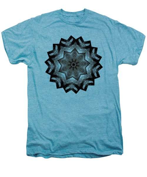 Lines In A Star By Kaye Menner Men's Premium T-Shirt by Kaye Menner
