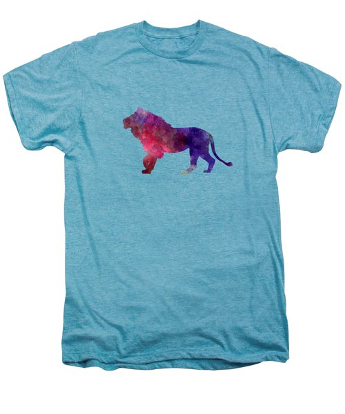 Lion 01 In Watercolor Men's Premium T-Shirt