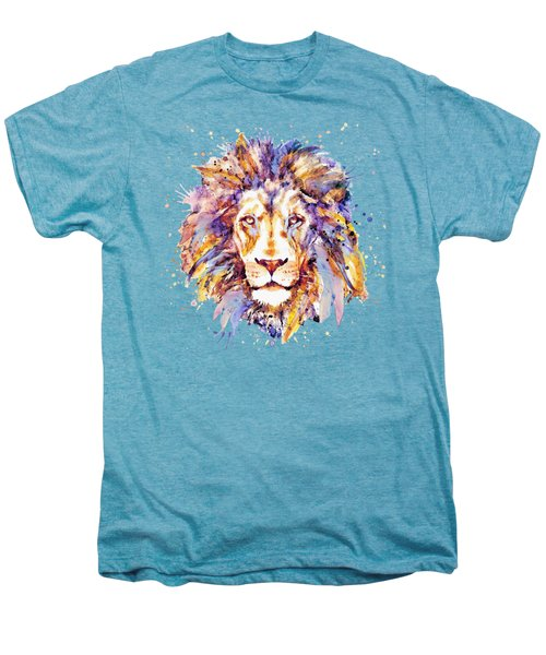 Lion Head Men's Premium T-Shirt by Marian Voicu