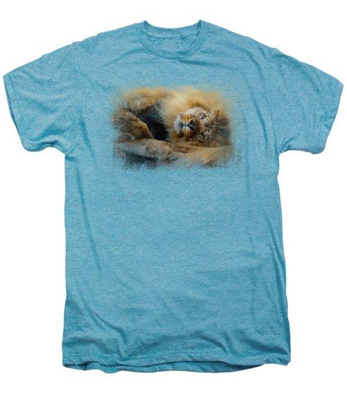 Lion Love 2 Men's Premium T-Shirt by Jai Johnson