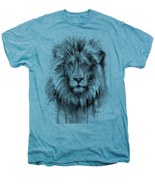 Lion Watercolor  Men's Premium T-Shirt