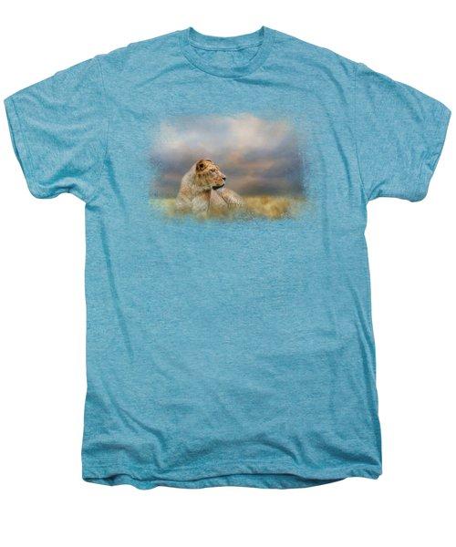 Lioness After The Storm Men's Premium T-Shirt by Jai Johnson