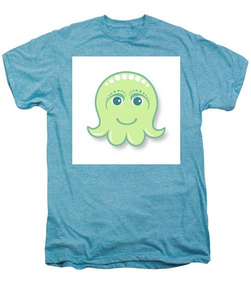 Little Cute Green Octopus Men's Premium T-Shirt