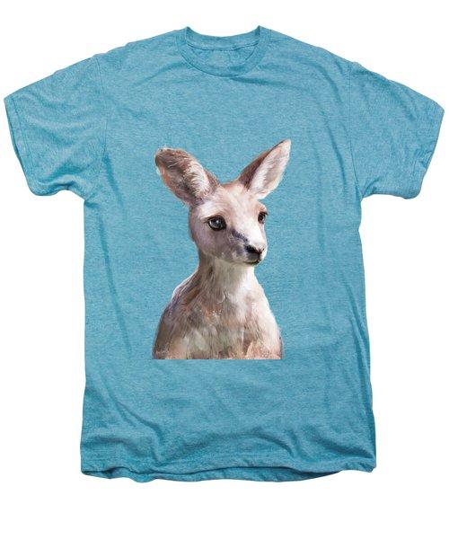 Little Kangaroo Men's Premium T-Shirt by Amy Hamilton