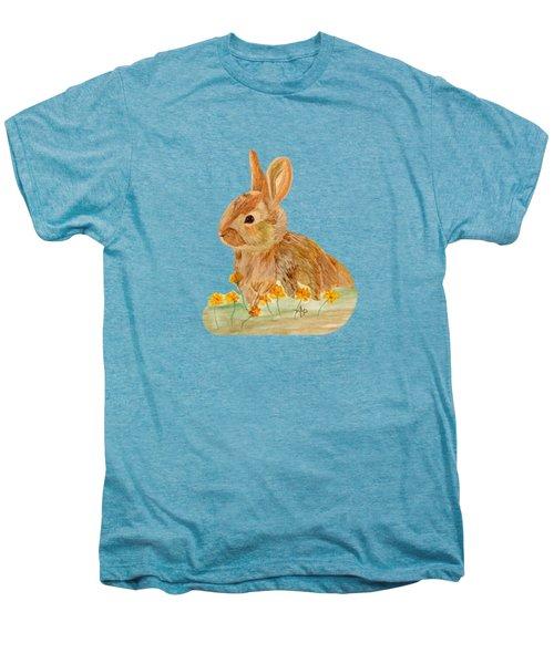 Little Rabbit Men's Premium T-Shirt by Angeles M Pomata