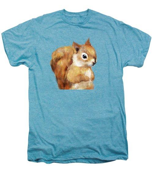 Little Squirrel Men's Premium T-Shirt by Amy Hamilton