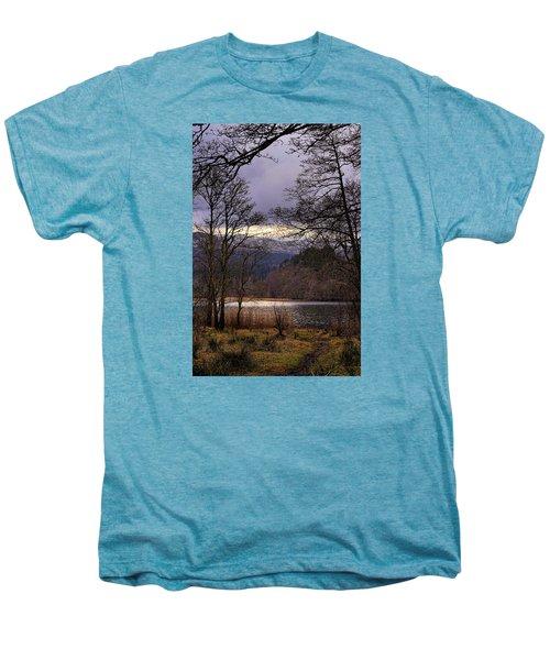 Men's Premium T-Shirt featuring the photograph Loch Venachar by Jeremy Lavender Photography