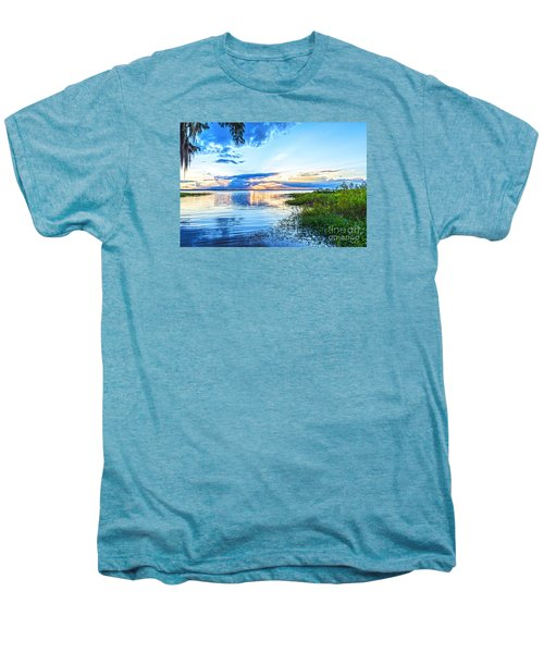 Men's Premium T-Shirt featuring the photograph Lochloosa Lake by Anthony Baatz