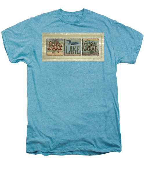 Lodge Lake Cabin Sign Men's Premium T-Shirt