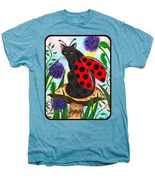 Logan Ladybug Fairy Cat Men's Premium T-Shirt by Carrie Hawks
