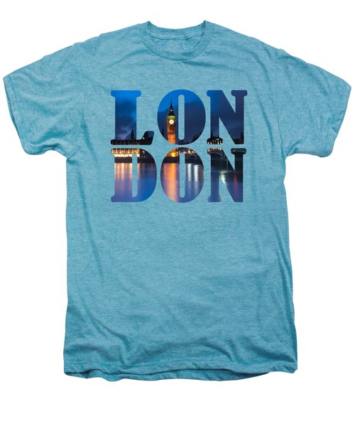 London Letters Men's Premium T-Shirt by Matt Malloy