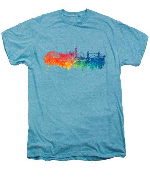 London Skyline City Color Men's Premium T-Shirt by Justyna JBJart