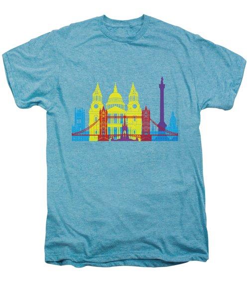 London Skyline Pop Men's Premium T-Shirt by Pablo Romero