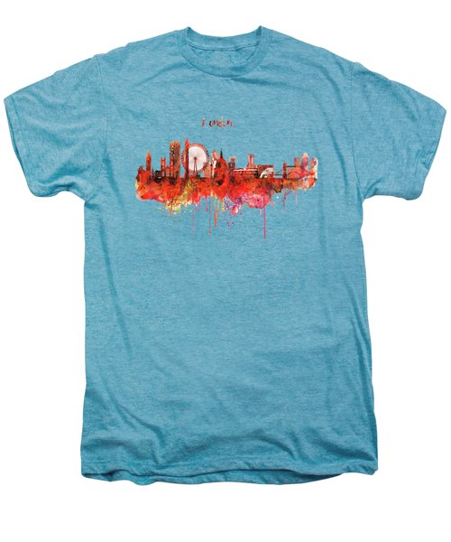 London Skyline Watercolor Men's Premium T-Shirt