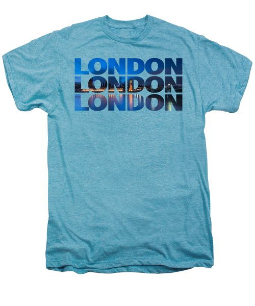 London Text Men's Premium T-Shirt by Matt Malloy