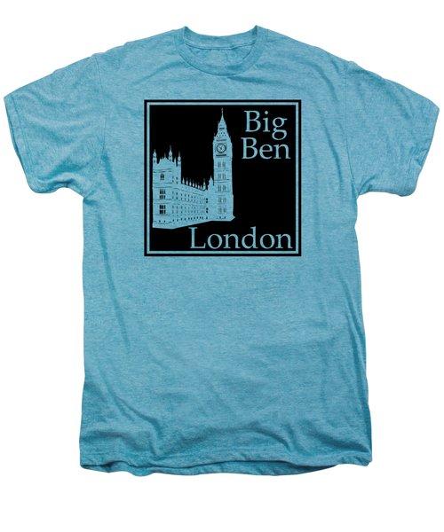 London's Big Ben In Black Men's Premium T-Shirt