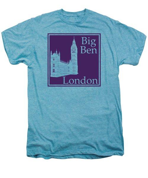London's Big Ben In Purple Men's Premium T-Shirt