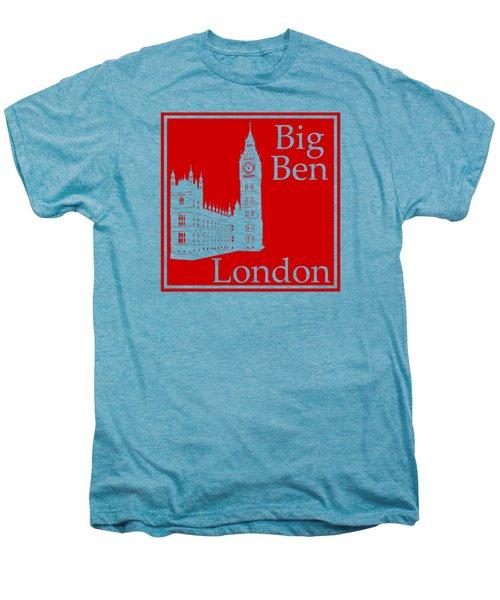 London's Big Ben In Red Men's Premium T-Shirt