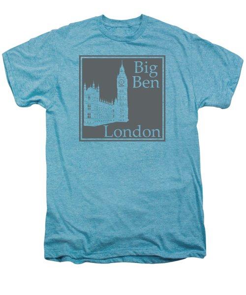 London's Big Ben In Storm Gray Men's Premium T-Shirt