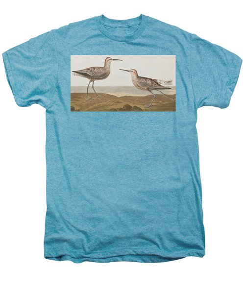 Long-legged Sandpiper Men's Premium T-Shirt by John James Audubon