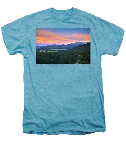 Men's Premium T-Shirt featuring the photograph Longs Peak Sunset by David Chandler