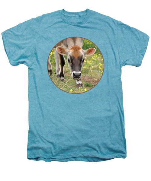 Look Into My Eyes - Jersey Cow - Square Men's Premium T-Shirt