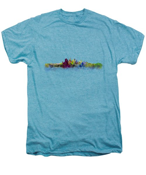 Los Angeles City Skyline Hq V3 Men's Premium T-Shirt by HQ Photo