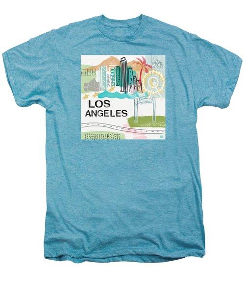Los Angeles Cityscape- Art By Linda Woods Men's Premium T-Shirt