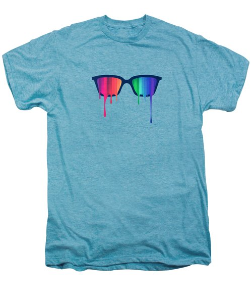 Love Wins Rainbow - Spectrum Pride Hipster Nerd Glasses Men's Premium T-Shirt