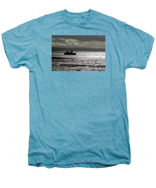 Men's Premium T-Shirt featuring the photograph Low Tide In Isle Of Skye by Dubi Roman