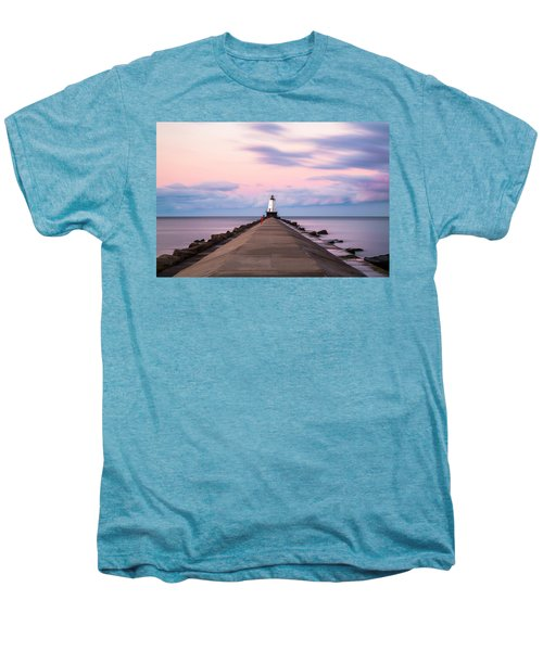 Ludington North Breakwater Light Sunrise Men's Premium T-Shirt