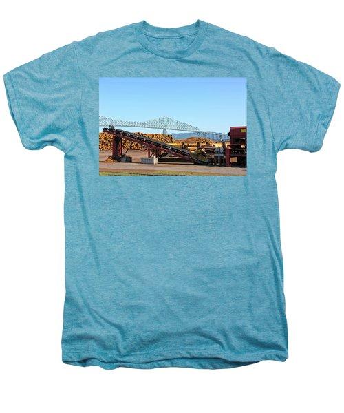 Lumber Mill Machinery In Rainier Oregon Men's Premium T-Shirt